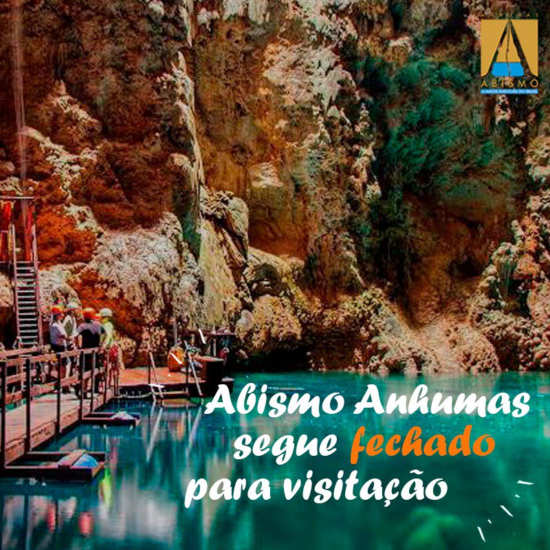 Abismo Anhumas permanece fechado para visitações em junho